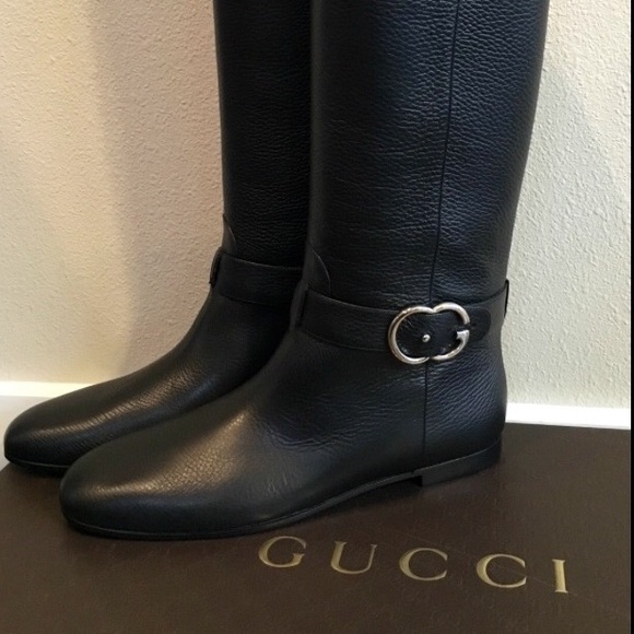 4bc0d4e0c74 NWT - Gucci Leather Interlocking G Riding Boot.