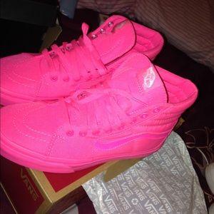 91259c401e Vans Shoes - NEON PINK VANS 🤘🏽🎀 high top