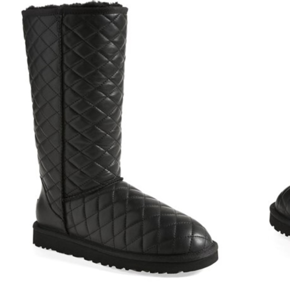Uggs classic tall diamond quilted boots women's