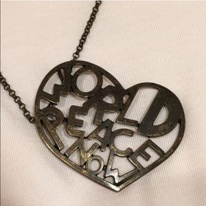 Peace love world jewelry on poshmark world peace now heart necklace aloadofball Image collections