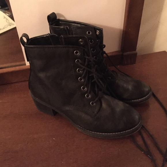 Call It Spring - Combat boots with small heel from Kierstin's ...
