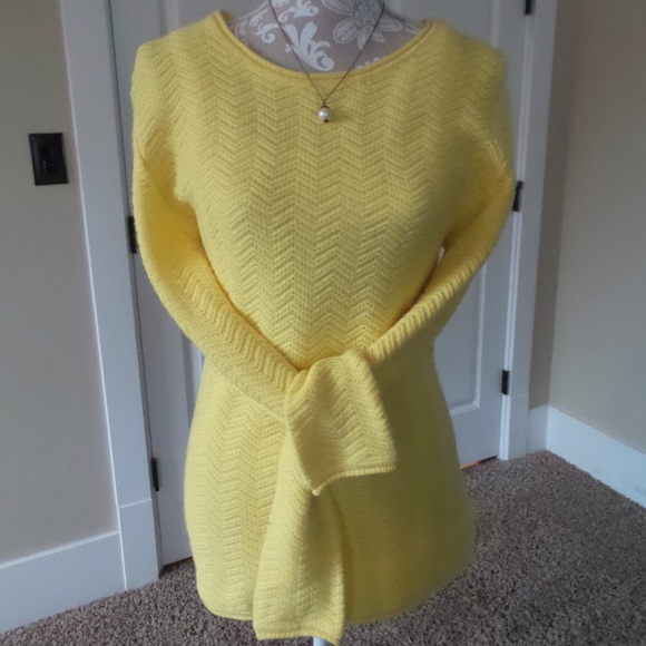 88% off Amber Sun Tops - Nordstrom Amber Sun Yellow Tunic Sweater ...