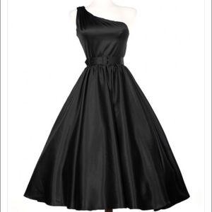 Pinup girl clothing Valerie dress in black