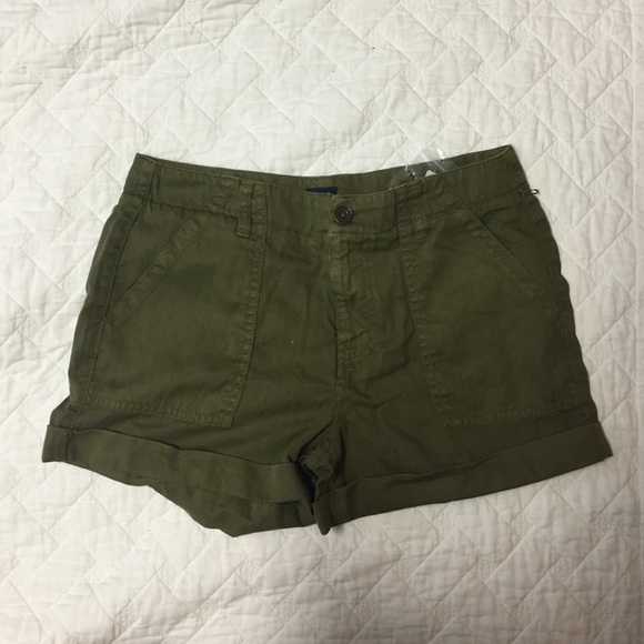 40% off Forever 21 Pants - Olive green high waisted shorts from ...