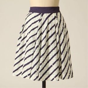 Anthropologie Mysterious Message Striped Skirt