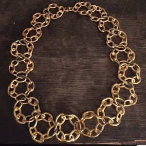 Vintage Jewelry - Vintage Chainlink ornate ring necklace