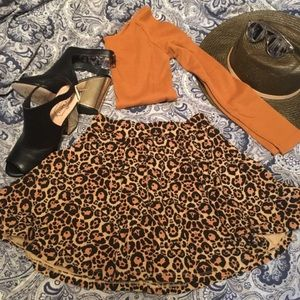 Skater Leopard print Skirt