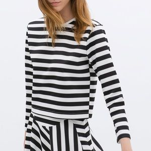 Striped crop top from Zara