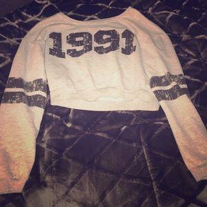 1991 Long sleeve crop top