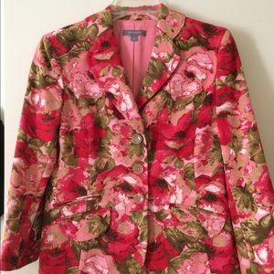 Ann Taylor spring floral silk blazer