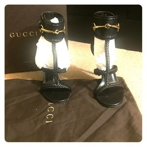 Gucci open toe ankle strap sandals