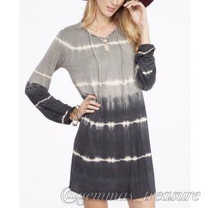 {SALE} Ombré Tie Dye Dress in Charcoal - SMALL