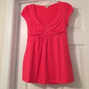 Forever 21 Coral Babydoll Top