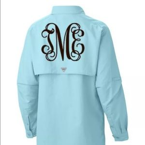 93f5993fc5 Columbia Swim - Monogram Columbia PFG Shirt/Swim Suit Cover Up.