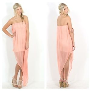 Blaque label Dresses & Skirts - Blaque Label peach tube dress NWT
