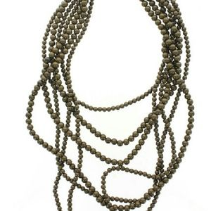 Jewelry - NWOT Chocolate Brown Stranded Statement Necklace