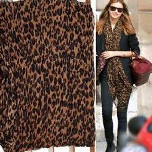 Brown Leopard print scarf wrap