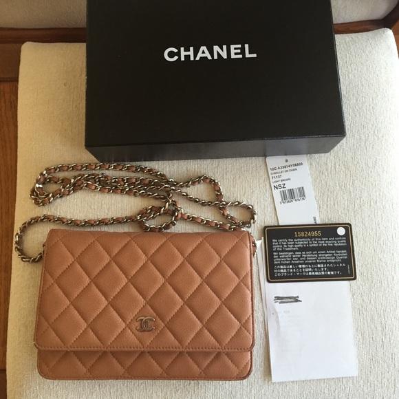 f90059ca0166 CHANEL Handbags - Authentic Light Brown Caviar Chanel WOC Bag