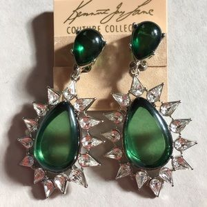 Kenneth Jay Lane Rhinestone Drop Earrings NWT