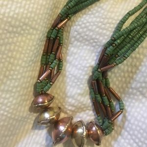 HANDCRAFTED ARTISAN Jewelry - ARTIST CRAFTED BRASS & Copper Statement Necklace