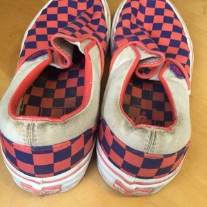 Vans Shoes - VANS purple and orange checkered shoes e41c5f23c
