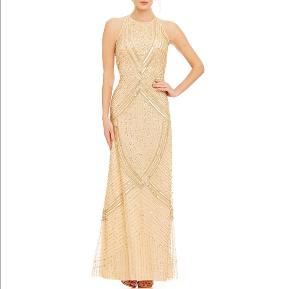 Aidan Mattox Dresses | Beaded Halter Gown | Poshmark
