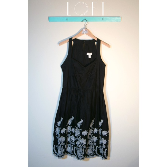 loft black embroidered loft dress from cat kastle s