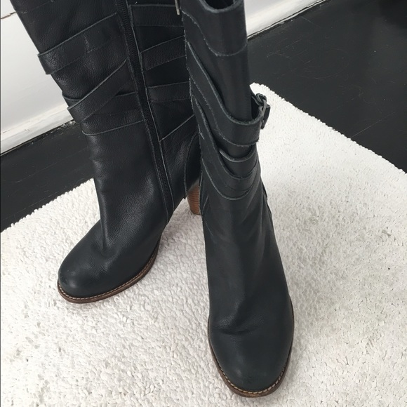 75 ugg shoes high heeled leather ugg boots from