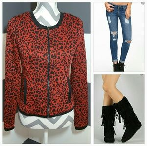 Jackets & Blazers - Animal print jacket NWOT