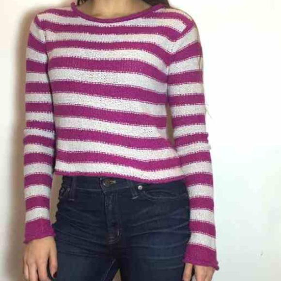 90% off Free People Sweaters - Free People Beach purple striped ...