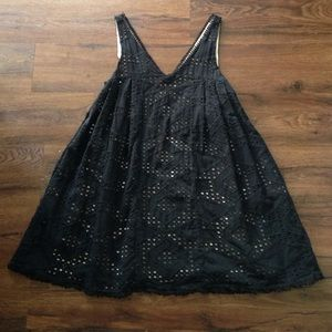 Anthropologie Black Eyelet Baby Doll Dress