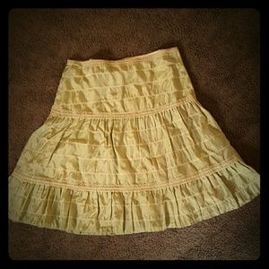 Wendy Hill Green skirt with beige lace trim