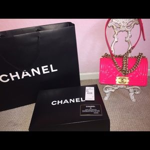 6d3433e72d2d5c CHANEL Bags   Brand New Flap Bag Neon Pinkgold   Poshmark