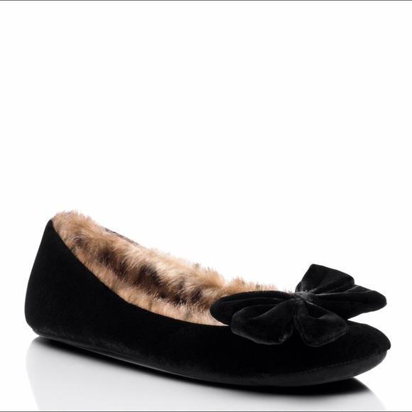 0c21e6cc827e NEW IN BOX Kate Spade black velvet slipper 6