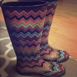 Missoni womens rainboots