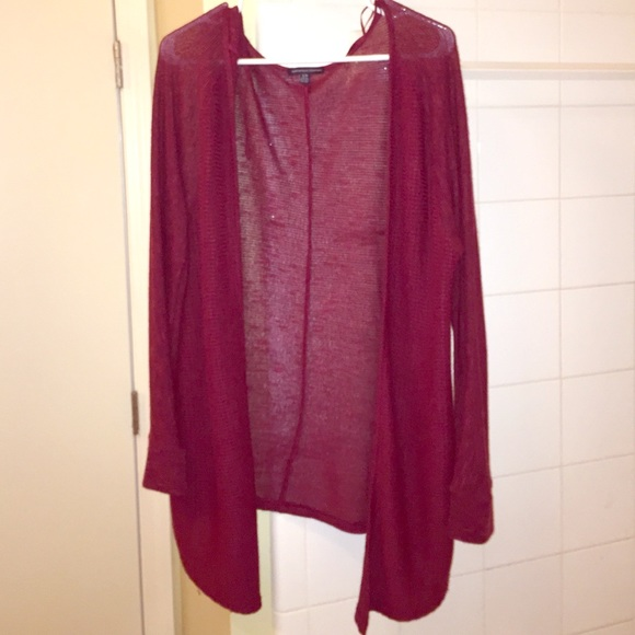 54% off Sweaters - thin lightweight maroon AE cardigan sweater ...