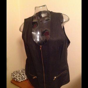 Tops - Leather Vest NWOT