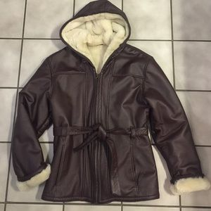 Wilsons Leather Jackets & Blazers - Wilsons Leather Belted Hooded Hipster Leather Coat