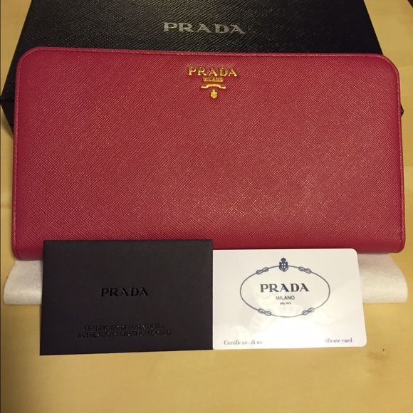 e37fa1b00189 Prada Bags | Nwt Saffiano Zip Around Travel Wallet Pink | Poshmark