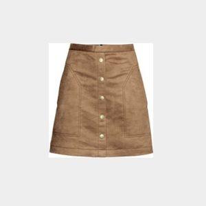 df707ec7f4 H&M Skirts | Light Brown Suede Skirt | Poshmark