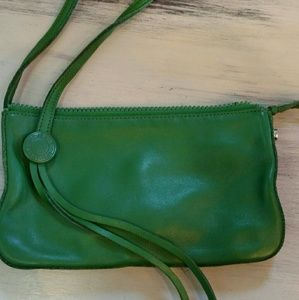 100%leather clutch made by Gap