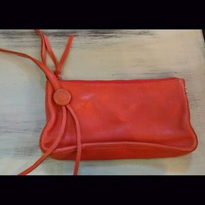 100% leather clutch made by Gap