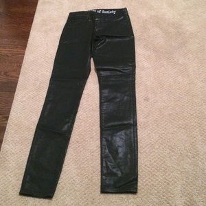 Articles of society black shiny jeans