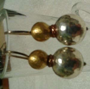 Gold & Silver toned earrings