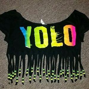 YOLO Myrtle Beach Belly Shirt / Swim Coverup