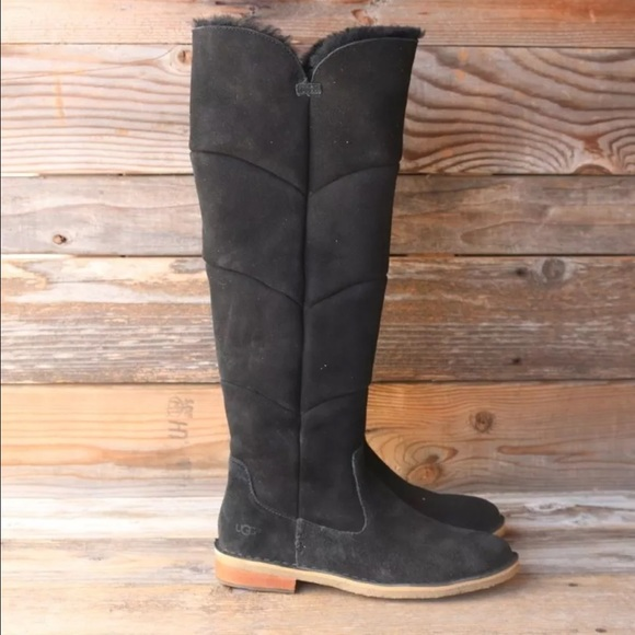 3c86085dc1a UGG Samantha Black Tall Over the Knee Boots NEW!