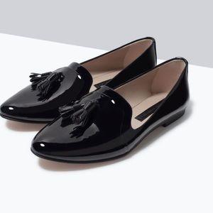 Zara Tassel Loafer Flats