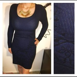 Max Studio Blue bodycon sweater Dress