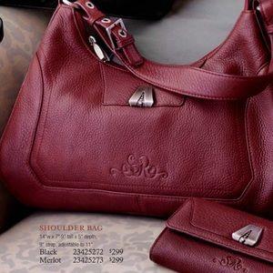 Longaberger Handbags - SO RACHEL MERLOT BAG LONGABERGER