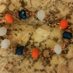 Jewelry - BRONCOS inspired team bracelet handcrafted